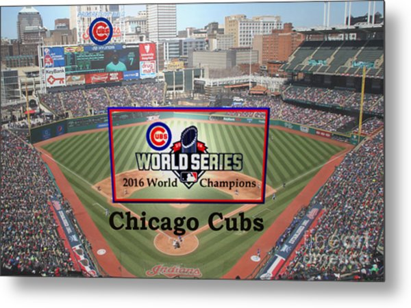 Chicago Cubs - 2016 World Series Champions Metal Print