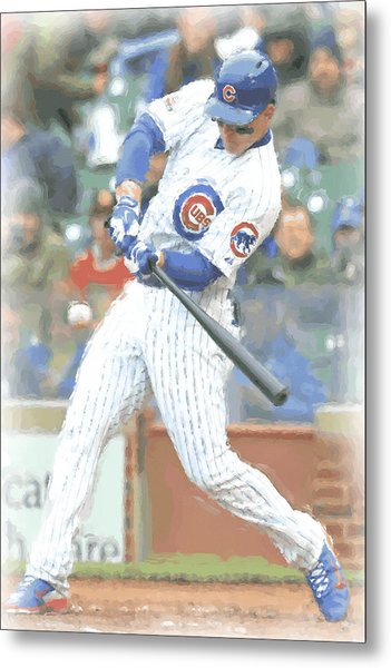 Chicago Cubs Anthony Rizzo Metal Print