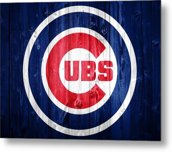 Chicago Cubs Barn Door Metal Print