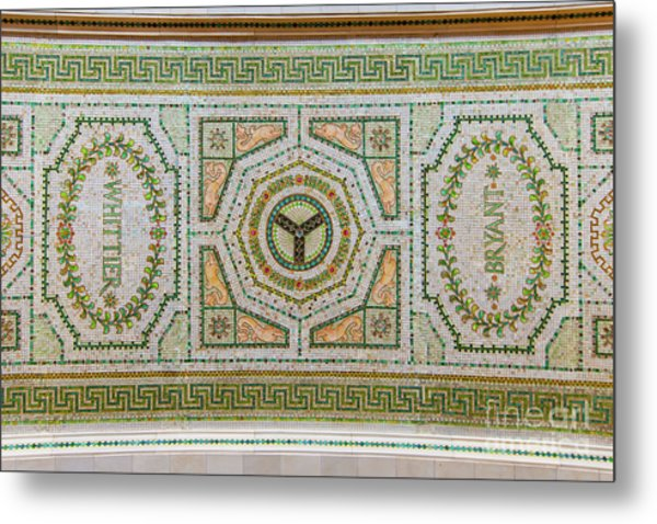 Chicago Cultural Center Ceiling With Y Symbol Metal Print