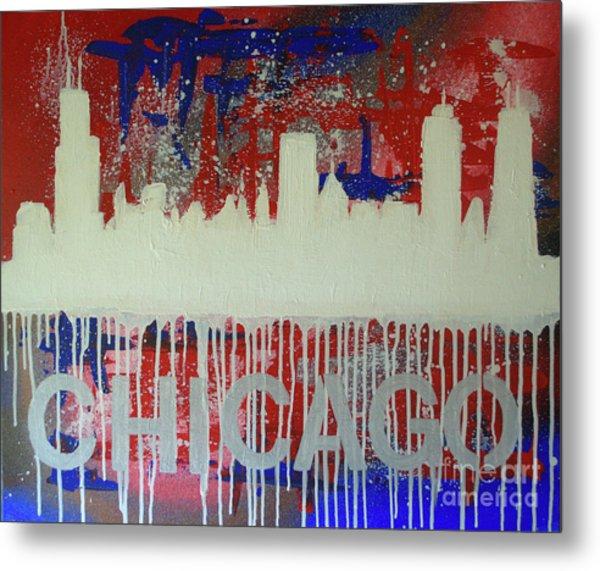 Chicago Drip Metal Print