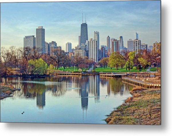 Chicago From Lincoln Park Metal Print