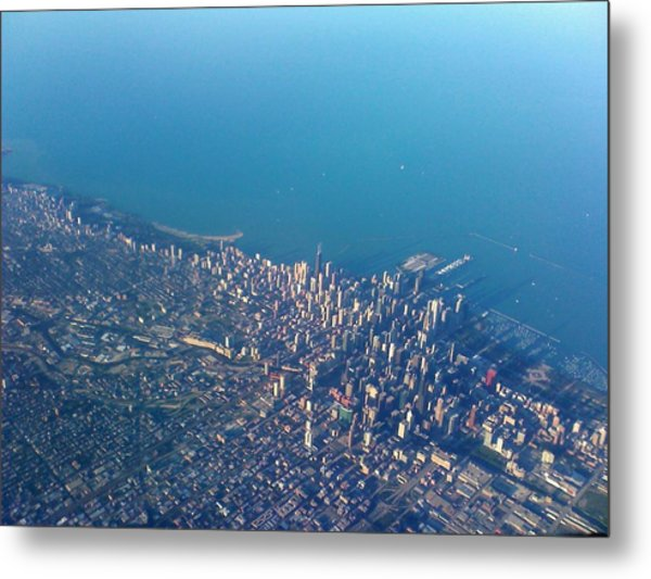 Chicago From Way Up Metal Print by Jacob Stempky