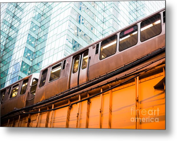 Chicago L Elevated Train  Metal Print