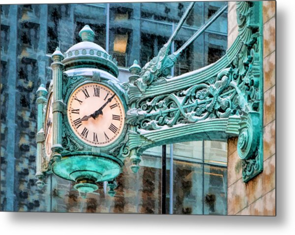Chicago Marshall Field State Street Clock Metal Print
