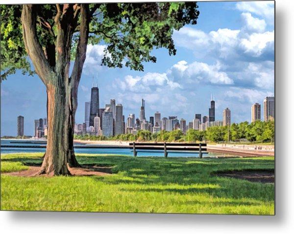 Chicago North Skyline Park Metal Print