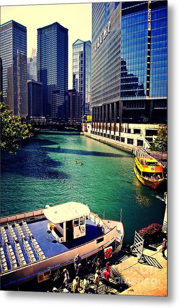 City Of Chicago - River Tour Metal Print