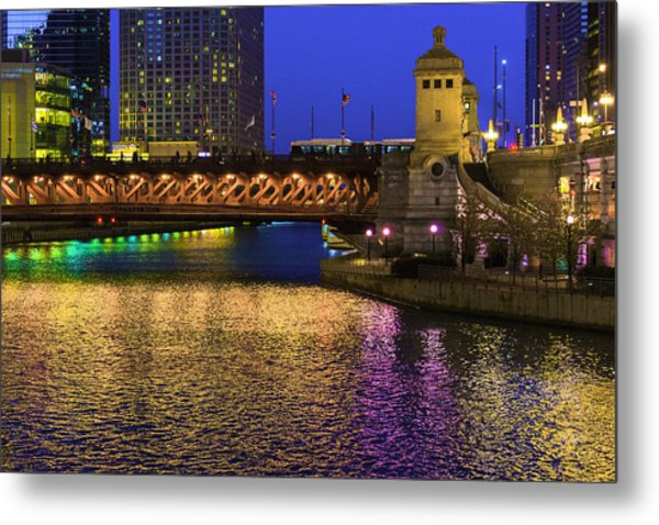 Chicago River Ver2 Metal Print