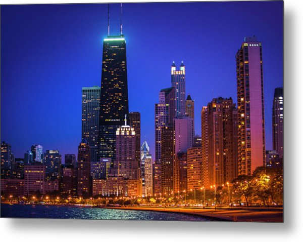Chicago Shoreline Skyscrapers Metal Print
