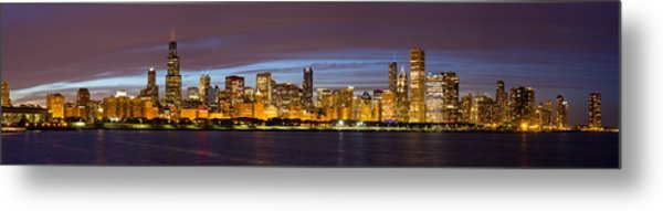 Chicago Skyline At Dusk Metal Print by Twenty Two North Photography
