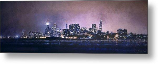 Chicago Skyline From Evanston Metal Print