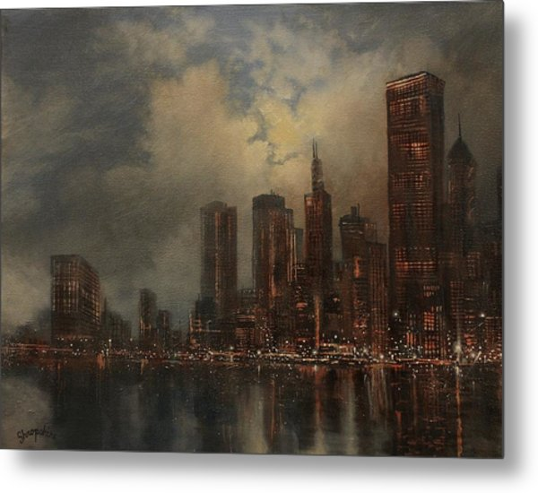 Chicago Skyline Metal Print by Tom Shropshire
