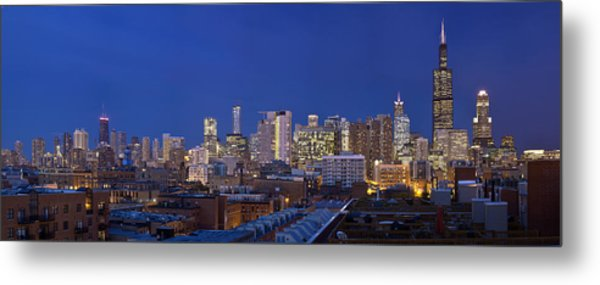 Chicago Skyline West Side Metal Print