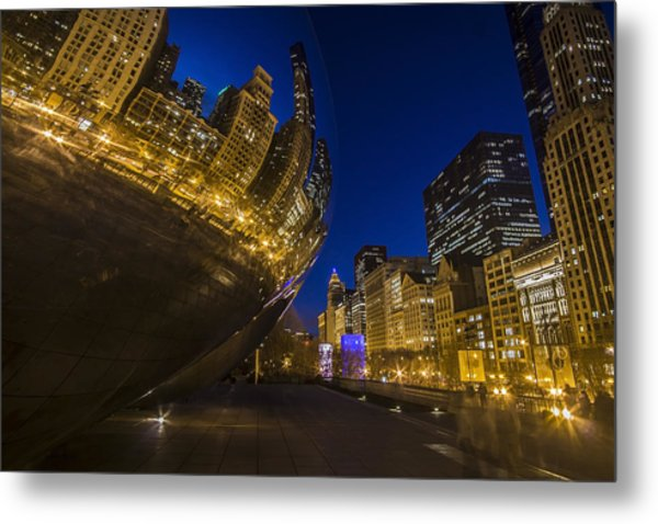 Chicago's Millenium Park At Dusk Metal Print