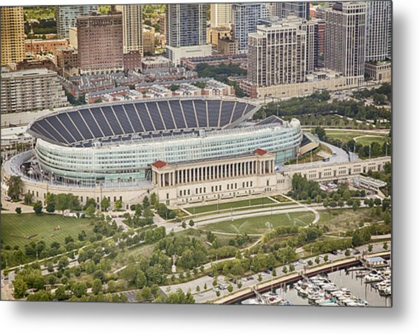 Chicago's Soldier Field Aerial Metal Print