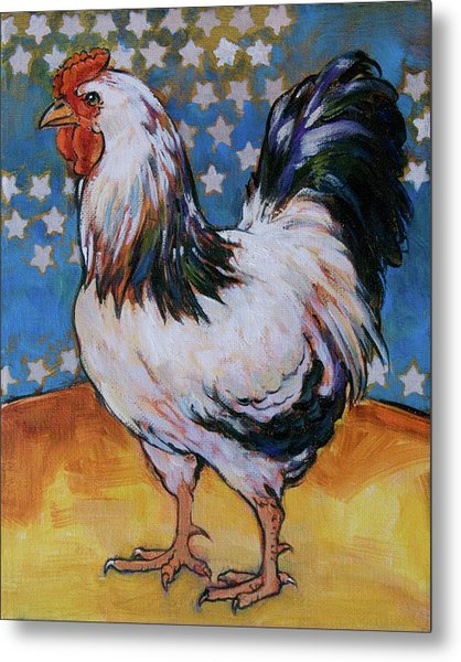 Chicken And Stars Metal Print