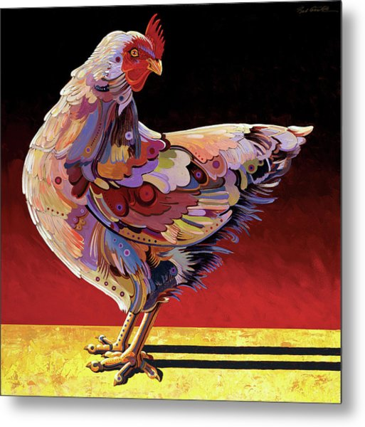 Chickenscape II Metal Print