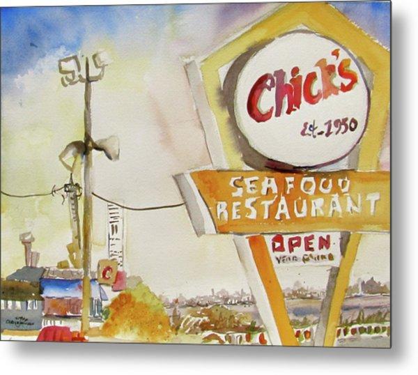 Chick's Seafood Metal Print