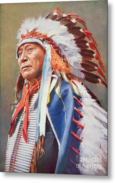 Chief Hollow Horn Bear Metal Print