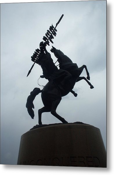 Chief Osceola Statue Metal Print