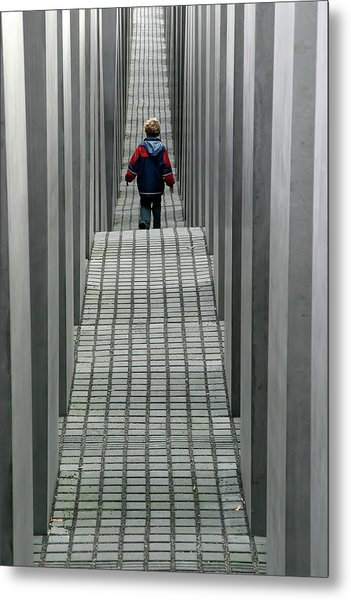 Child In Berlin Metal Print