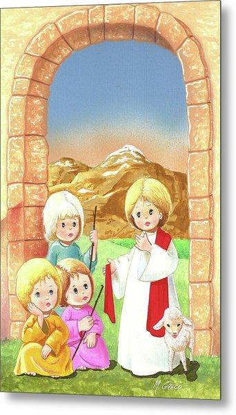 Child Shepherds Metal Print