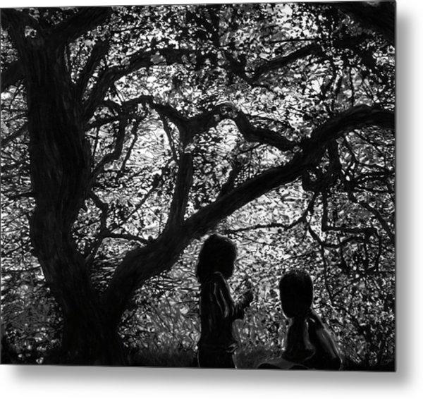 Child Silhouettes Metal Print