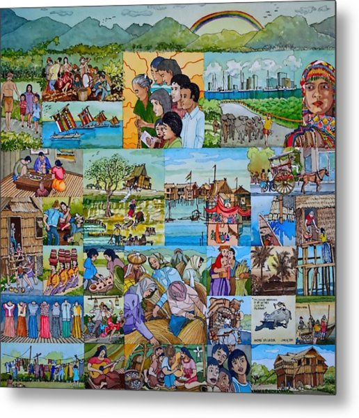 Childhood Memories Of My Mother Country Pilipinas Metal Print