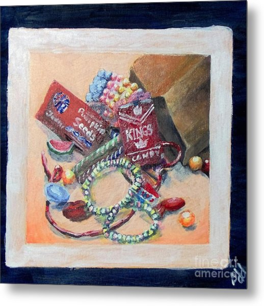 Metal Print featuring the painting Childhood Treasure by Saundra Johnson