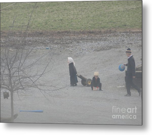 Children At Play Metal Print
