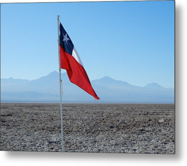 Chilean Flag Metal Print