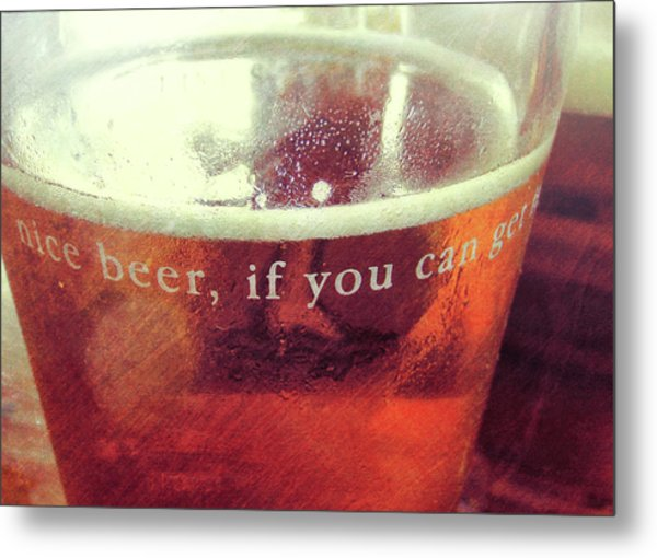 Chilled Amber Quote Metal Print by JAMART Photography