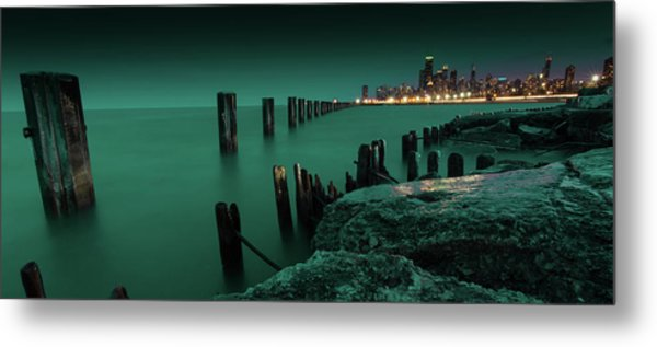 Chilly Chicago Metal Print