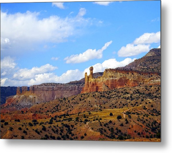 Chimney Rock Ghost Ranch New Mexico Metal Print
