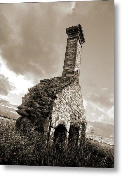 Chimney Ruins Metal Print