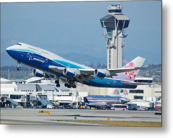 China Airlines Boeing 747 Dreamliner Lax Metal Print