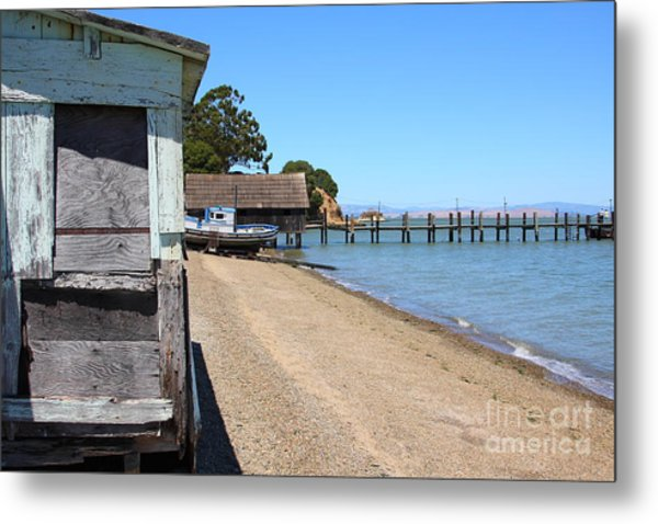 China Camp In Marin Ca Metal Print by Wingsdomain Art and Photography
