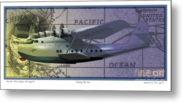 China Clipper Chasing The Sun Metal Print