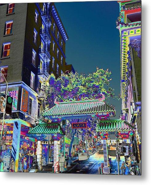 China Town / Shades Of Blue Metal Print