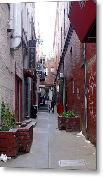 Chinatown Alley Metal Print by Sonja Anderson