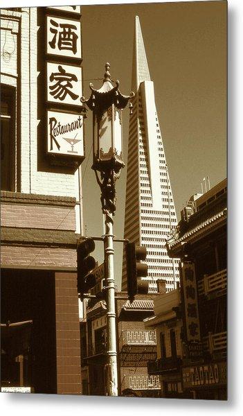 Chinatown San Francisco - Vintage Photo Art Metal Print