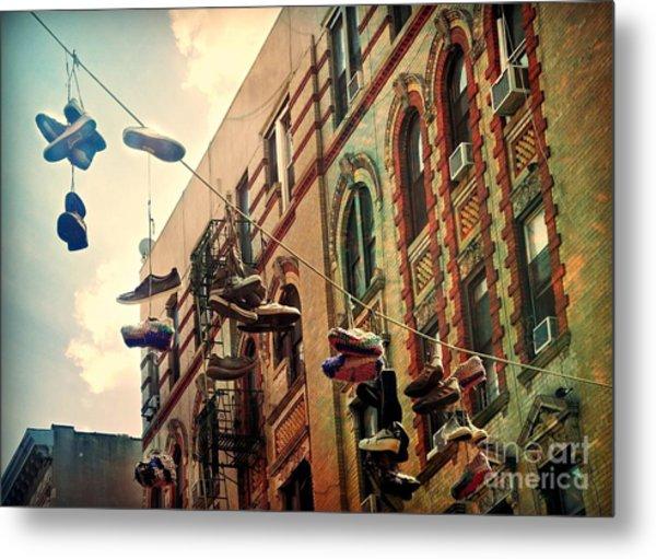 Chinatown Shoe Fling Metal Print