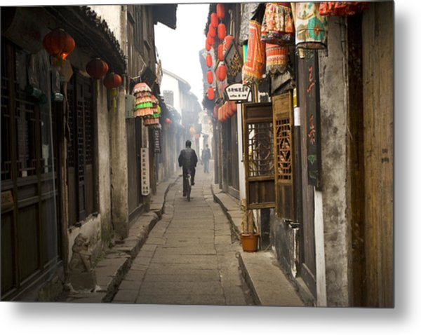 Chinese Alley Metal Print