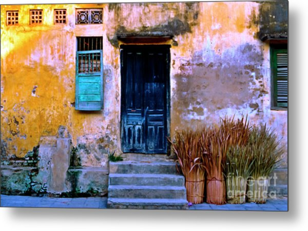 Chinese Facade Of Hoi An In Vietnam Metal Print