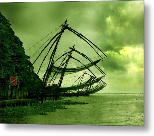 Chinese Fishing Net Metal Print by Farah Faizal