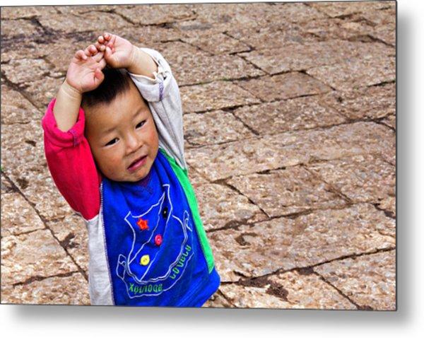Chinese Boy Joy Metal Print