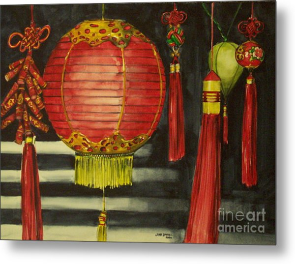 Chinese Lanterns No. 1 Metal Print