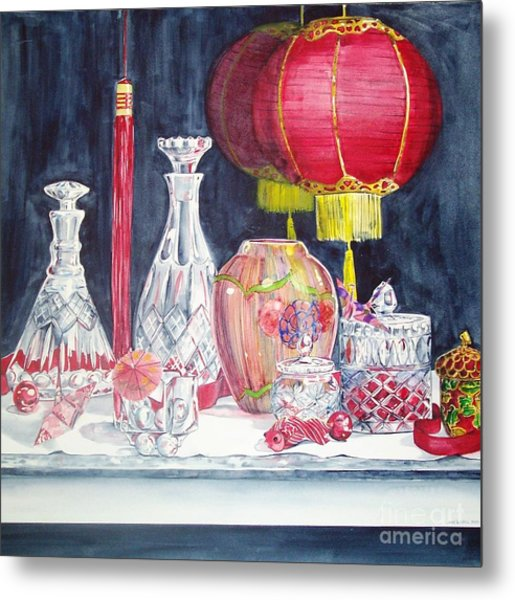 Chinese Lanterns No. 2 Metal Print