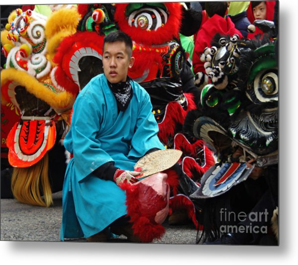 Metal Print featuring the photograph Chinese New Year Lion Dancers, Chinatown, Boston, Massachusetts, 2016 by Lita Kelley