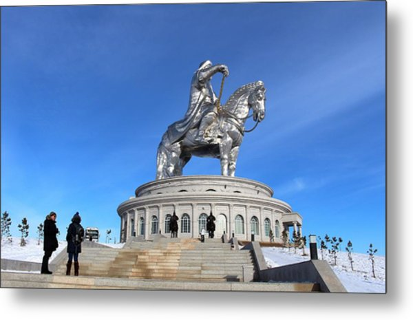 Chinggis Khan Statue/tsagaan Sar Metal Print